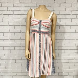 Anthropologie Hutch Women's Pastel Striped Dress